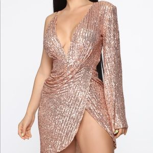 Just Getting Started Sequin Mini Dress